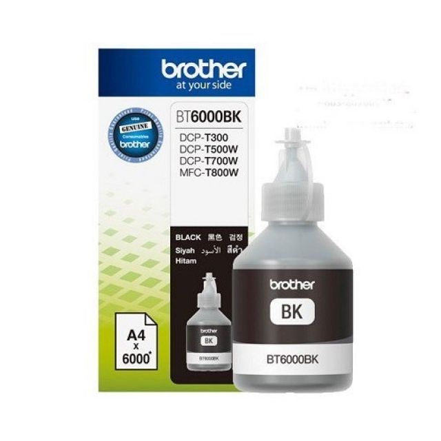 BROTHER Black Ink Cartridge BT-6000BK